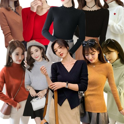 韓国ファッション人気沸騰アウター レディースファッション/上着トップス /セーター /レディース カジュアル カジュアルでカッコイイ大人のニット ニット