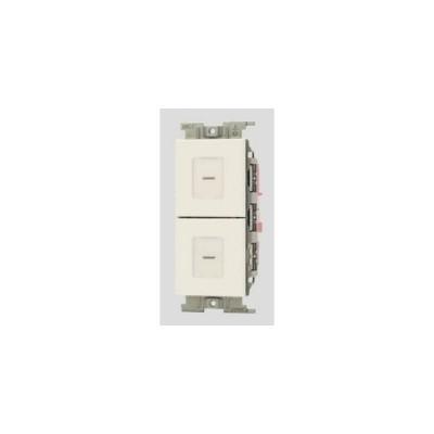神保電器 NWSM02771WPW J・WIDE SLIMシリーズ 電子式スイッチ ガイド・チェック用 並列操作形 遅れ機能なし PW色