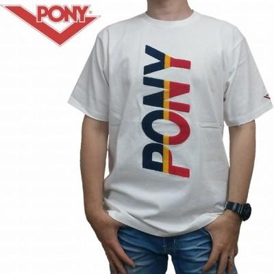 半袖Tシャツ サガラ刺繍ロゴ USAコットン Tシャツ 1914002 PONY ポニー ストリート ロゴ TOKAGEYA ホワイト ネイビー  レターパック対応