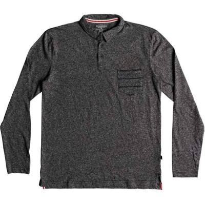 クイックシルバー Quicksilver メンズ ポロシャツ トップス Shadow Stripe Long Sleeve Polo Shirt Grey