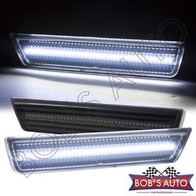 車 トラック パーツ ライト Dodge Challenger 2008-2014 スモーク ティント ホワイト LED リア バンパー サイド マーカーライト