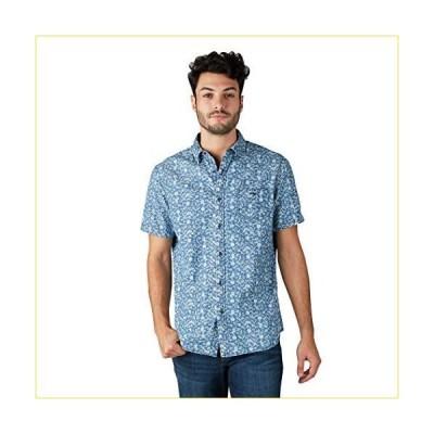 Lee メンズ レギュラー ビッグ&トール 半袖ボタンダウンプリントストレッチシャツ US サイズ: X-Large カラ