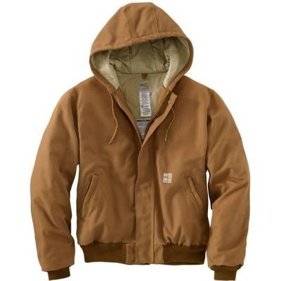 カーハート ジャケット&ブルゾン アウター メンズ Carhartt Men's Fire Resistant Duck Active Jacket Brown Medium 01