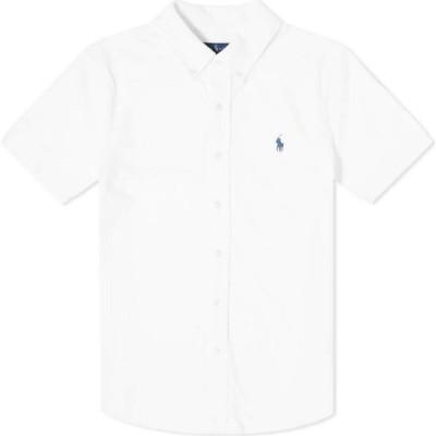 ラルフ ローレン Polo Ralph Lauren メンズ 半袖シャツ トップス short sleeve pique button down shirt White