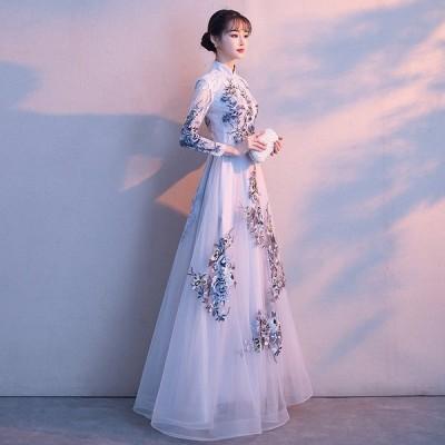 パーティードレス イブニングドレス フィッシュテール 安い 可愛い 結婚式 披露宴 ブライダル ロングドレス ドレス【ロング】
