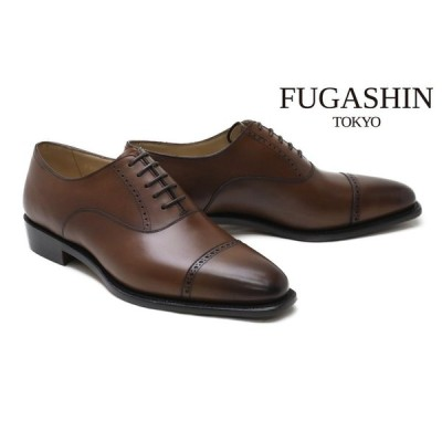 フウガシン / FUGASHIN メンズ ドレスシューズ fv6402 dbr パンチドキャップトゥ ダークブラウン