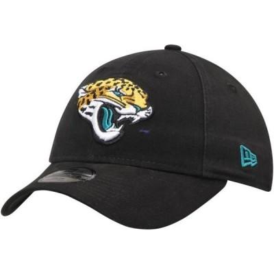 キッズ スポーツリーグ フットボール Jacksonville Jaguars New Era Youth Primary Core Classic 9TWENTY Adjustable Hat - Black - OSFA