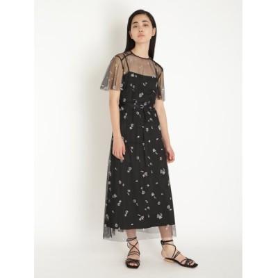 【ファーファー】 マリンモチーフ刺繍ドレス レディース ブラック F FURFUR