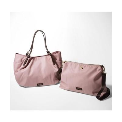 トートバッグ バッグ Y'SACCS×IEDIT コーディネイトを華やかにする親子バッグ〈ピンク〉