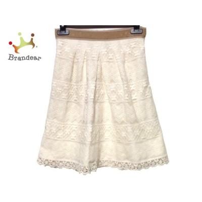アプワイザーリッシェ スカート サイズ0 XS レディース アイボリー×ベージュ×ライトブラウン       スペシャル特価 20200621
