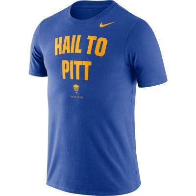 ナイキ Nike メンズ Tシャツ ドライフィット トップス Pitt Panthers Blue Dri-FIT Phrase T-Shirt