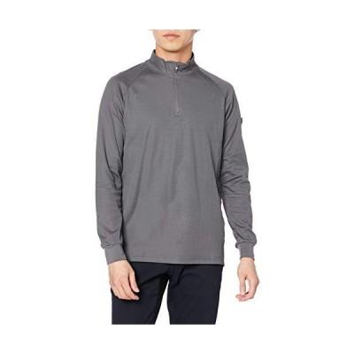 エフスタイル シャツ 吸汗速乾 ストレッチ・ジップアップ長袖シャツ メンズ F-SD020503 チャコール L
