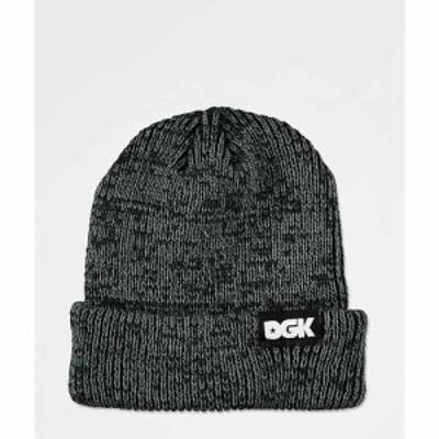 ディージーケー DGK メンズ ニット ビーニー 帽子 Classic Heathered Black Beanie Black