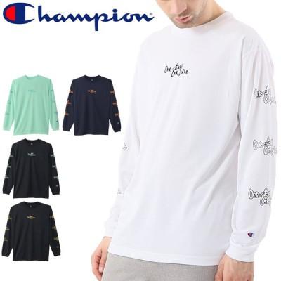 長袖 Tシャツ プラクティスシャツ メンズ/チャンピオン Champion E-MOTION/バスケットボール スポーツウェア 男性 クルーネック プラシャツ 抗菌防臭 /C3-SB410