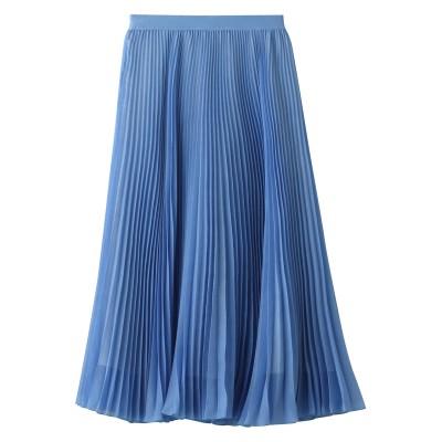 ANAYI アナイ ボイルプリーツスカート レディース ブルー 38