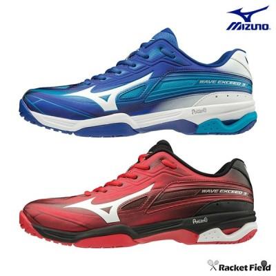 【SALE】ミズノ ソフトテニスシューズ ウエーブエクシード 3 ワイド OC(61GB1913)3E相当 室内 体育館 靴 軽量 MIZUNO