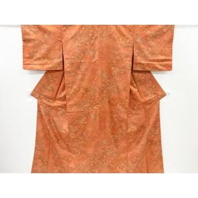 リサイクル 切りばめ風草花模様小紋着物