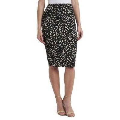 ヴィンスカムート スカート ボトムス レディース Women's Animal Print Textured Knit Pencil Skirt Rich Black