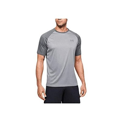 並行輸入品 Under Armour Mens Tech 2.0 Short Sleeve T-Shirt (Steel Light Heather/Pitch