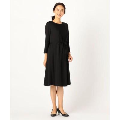 KEITH/キース サテンジョーゼット ドレス ブラック 38