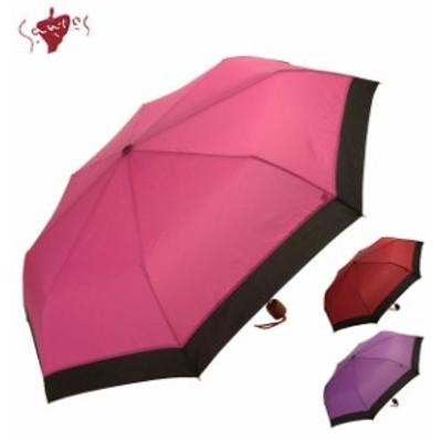 折りたたみ傘 サントス santos レディース 傘 プレゼント 浮き出る 定番 花柄 さくら 桜 アンブレラ かさ 雨 傘袋付き 京美咲 折りたたみ