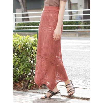 【ダズリン/dazzlin】 クロシェスカラップニットスカート