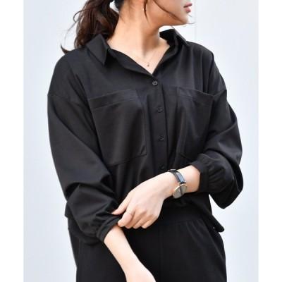 シャツ ブラウス ポンチスキッパーシャツ/セットアップ対応 【WEB/EC限定商品】