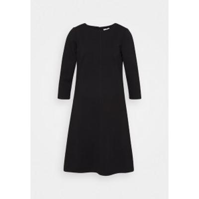 トムテイラー レディース ワンピース トップス DRESS WITH ZIGZAG - Jersey dress - deep black deep black