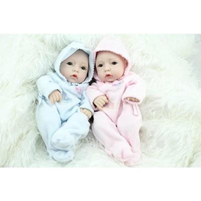 幼児用おもちゃ NPKDOLL Reborn Baby Doll Hard Silicone 11inch 28cm Waterproof Toy Hooded clothing Blue Pink Boy and Girl A1US