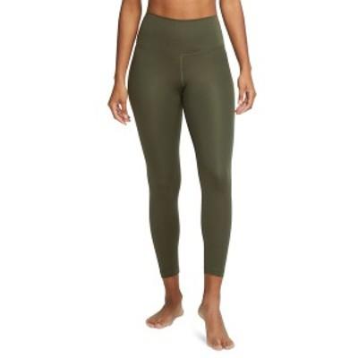 ナイキ レディース カジュアルパンツ ボトムス Women's Cropped Yoga Leggings Black/Smoke Grey