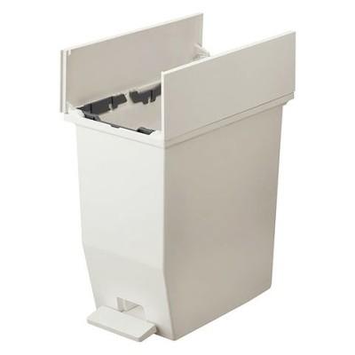 リス SOLOW ペダルオープンツイン20L(ホワイト) ゴミ箱 ダストボックス 左右に両開きふた付き 高さを抑えて棚下で使える GSLW001 【返品種別A】