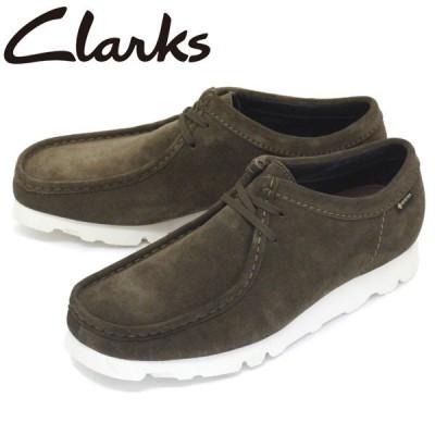 Clarks (クラークス) 26150415 Wallabee GTX ワラビー ゴアテックス メンズ シューズ Olive Suede CL016