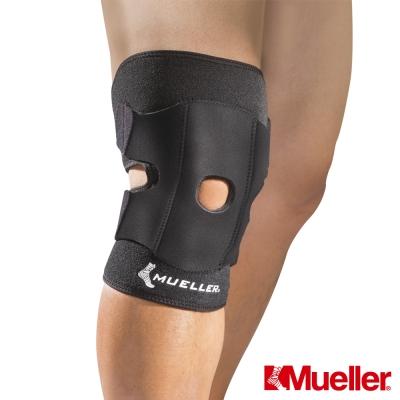 MUELLER慕樂 髕骨強化 可調式膝關節護具 黑色 護膝(MUA57227)