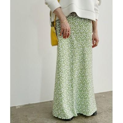 (ROPE' mademoiselle/ロペ マドモアゼル)ヴィンテージライクフラワーマーメイドスカート/レディース キミドリ(34)