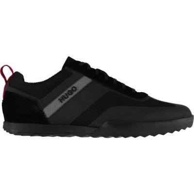 ヒューゴ ボス HUGO メンズ スニーカー シューズ・靴 Hugo Matrix Suede Trainers Black