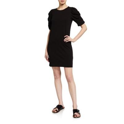 フレーム レディース ワンピース トップス Gathered Short-Sleeve Dress