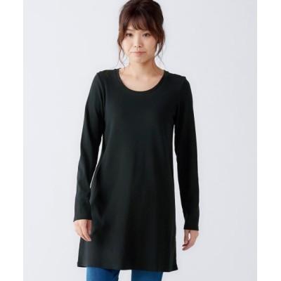 【大きいサイズ】 【新色追加】綿100%クルーネックチュニックTシャツ plus size tops,