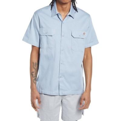 ディッキーズ DICKIES メンズ 半袖シャツ トップス R2R Short Sleeve Work Shirt Stonewashed Fog Blue