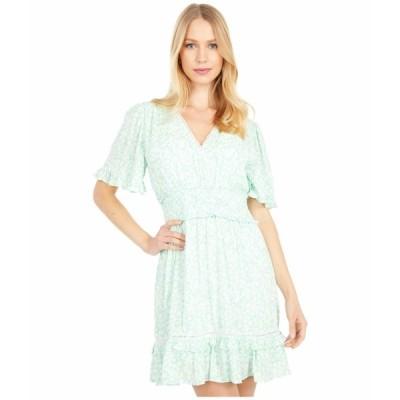 ロストアンドウォーター ワンピース トップス レディース Mojito Please Short Sleeve Mini Dress Mint White Floral