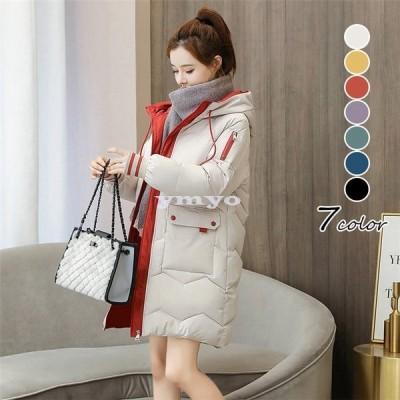 コート レディース ロングコート 中綿 ダウン コットン 綿入れ フード付き アウター 大きいサイズ ゆったり 通勤 韓国風 ダウンジャケット 防風防寒 暖かい