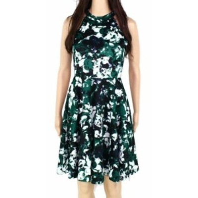 ファッション ドレス Sopranos Womens Dress Green Blue Size Small S A-Line Abstract Print