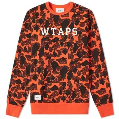 ダブルタップス WTAPS メンズ スウェット・トレーナー トップス Design College Crew Sweat Orange