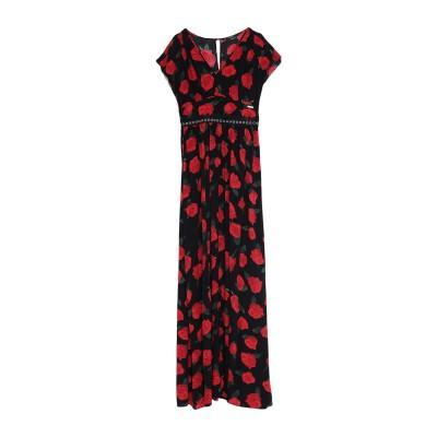 ゲス GUESS ロングワンピース&ドレス ブラック XS レーヨン 100% ロングワンピース&ドレス