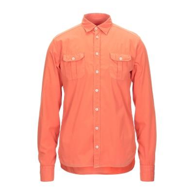 EXIBIT シャツ オレンジ M コットン 100% シャツ