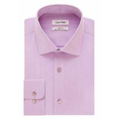 Calvin Klein カルバンクライン ファッション ドレス Calvin Klein NEW Pink Mens Size 16 Regular Fit Performance Dress Shirt