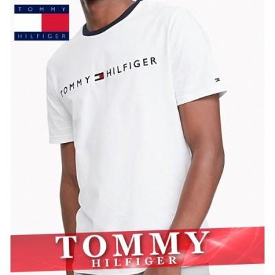 トミーヒルフィガー ボーダー柄Tシャツ 半袖 メンズ スリム ロゴ オーガニックコットン 丸首 XS〜XXL 新作 TOMMY