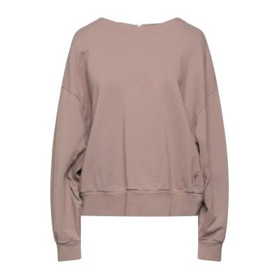 EUROPEAN CULTURE スウェットシャツ ライトブラウン S コットン 77% / キュプラ 14% / レーヨン 7% / ポリウレタン