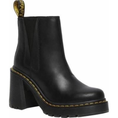 ドクターマーチン レディース ブーツ・レインブーツ シューズ Women's Dr. Martens Spence Chelsea Boot Black Sendal Nappa Leather