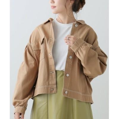 【フレームス レイカズン/frames RAY CASSIN】 配色ステッチツイルジャケット