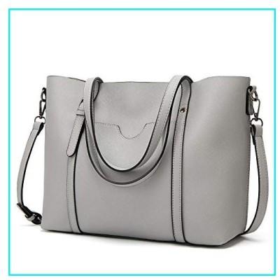 LoZoDo Women Top Handle Satchel Handbags Shoulder Bag Tote Purse (F-Grey)【並行輸入品】